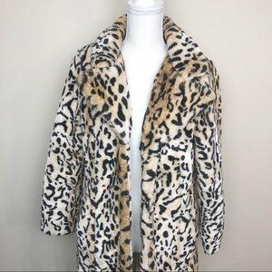 QED London Faux Fur Coat.